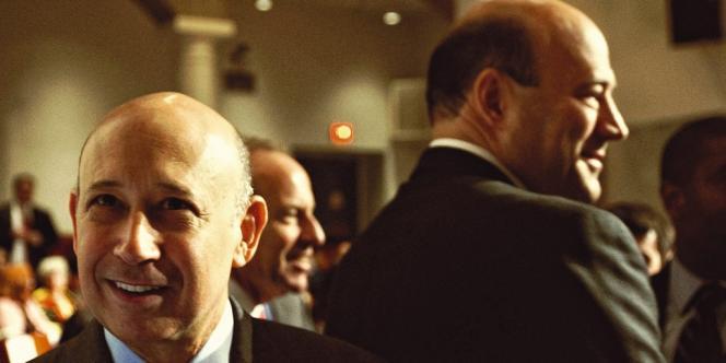 Lloyd Blankfein et Gary Cohn, respectivement PDG  et président de Goldman Sachs.