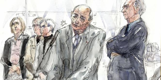 Jacques Servier à la barre des accusés, lors du premier jour du procès Servier lundi 14 mai.