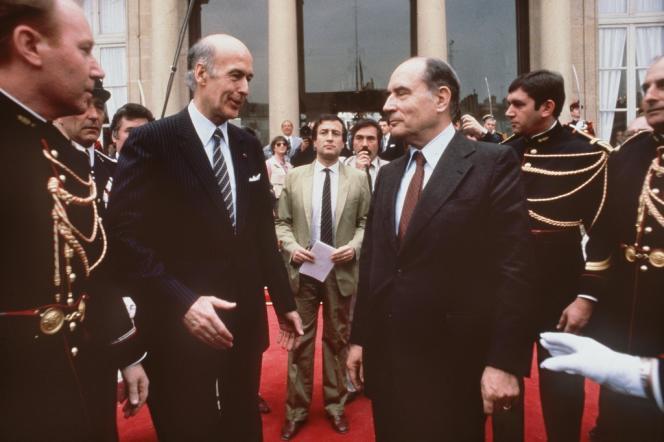 Valéry Giscard d'Estaing et François Mitterrand, le 21 mai 1981.