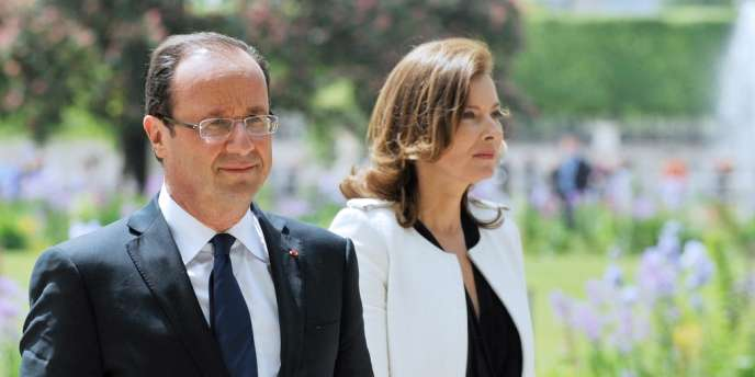 François Hollande et Valerie Trierweiler, le 15 mai 2012, à Paris.