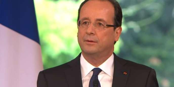 François Hollande lors de son premier discours en tant que président de la République, le 15 mai 2012