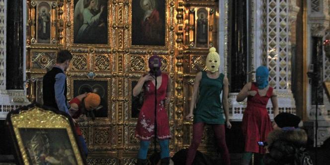 Le 21 février 2012, dans la cathédrale du Christ-Sauveur, à Moscou.