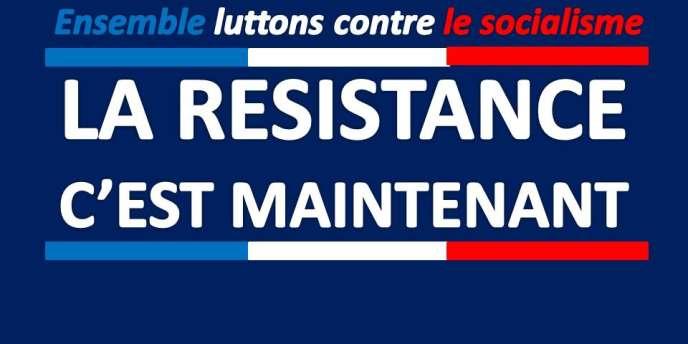 Bannière d'un groupe Facebook anti-François Hollande