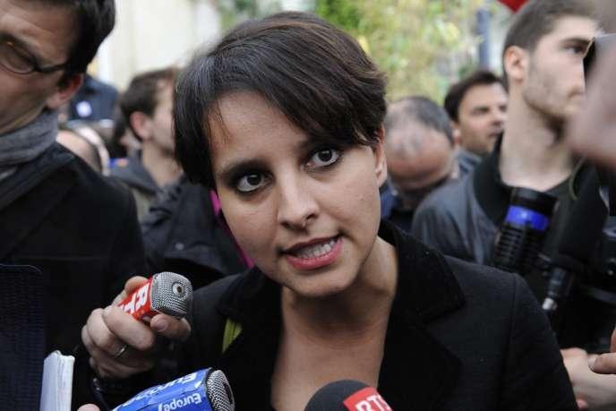 Najat Vallaud-Belkacem, (ici en mai) n'avait pas fait l'unanimité ni au sein du gouvernement ni au sein du PS avec ses propos abolitionnistes fin juin dans un interview au