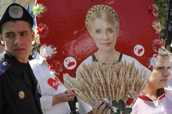 A Kiev, le 15 mai, manifestation de soutien à Ioulia Timochenko.