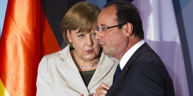La chancelière allemande Angela Merkel, et le président français, François Hollande, en mai 2012 à Berlin.
