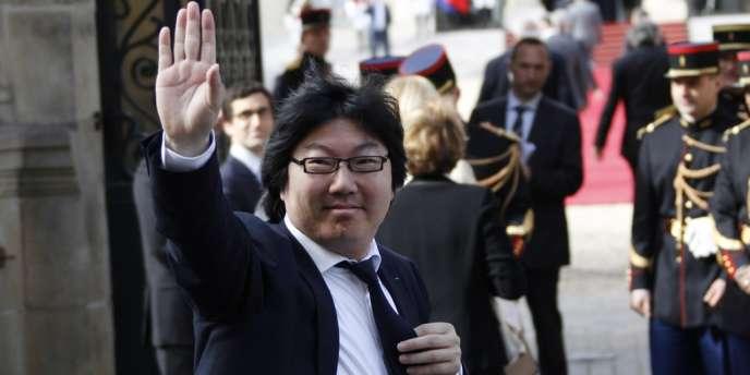 Jean-Vincent Placé arrive à l'Elysée, le 15 mai 2012.