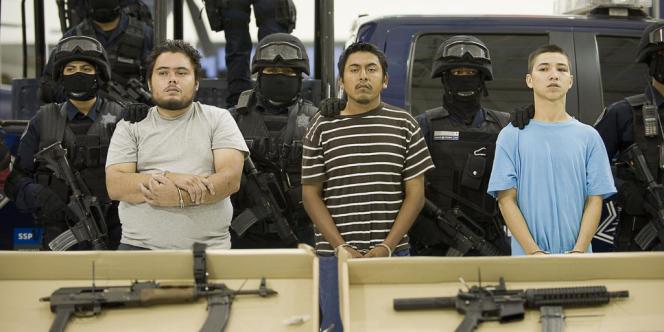 Trois membres présumés du cartel du Golfe arrêtés en août 2010.