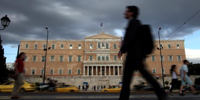 Le Parlement hellénique, ou conseil des Grecs, en mai 2012.