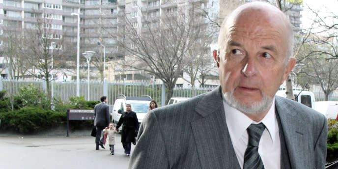 L'ancien PDG du groupe français Vinci, Antoine Zacharias, en mars 2010 au tribunal de Nanterre.