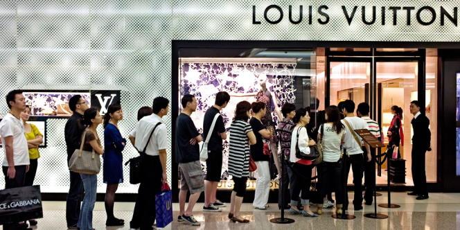 Une boutique Louis Vuitton à Shanghai.