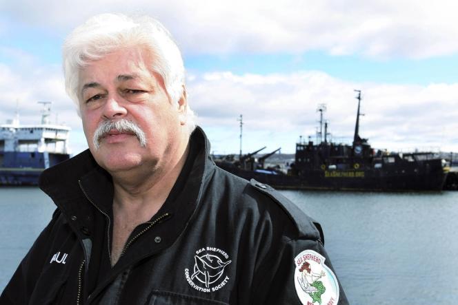 Dirigeant de l'ONG Sea Shepherd, Paul Watson, ici à Sydney en avril 2008, a été arrêté à Francfort pour être extradé vers le Costa Rica, le 14 mai.