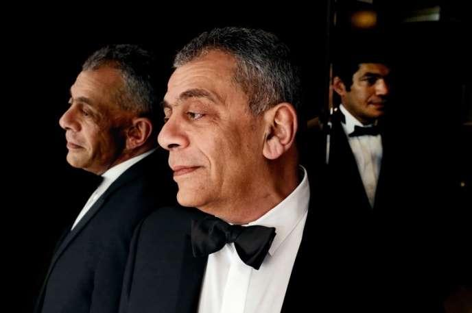 Les réalisateur et acteur égyptiens Yousry Nasrallah et Bassem Samra au Festival de Cannes, le 16 mai 2012.