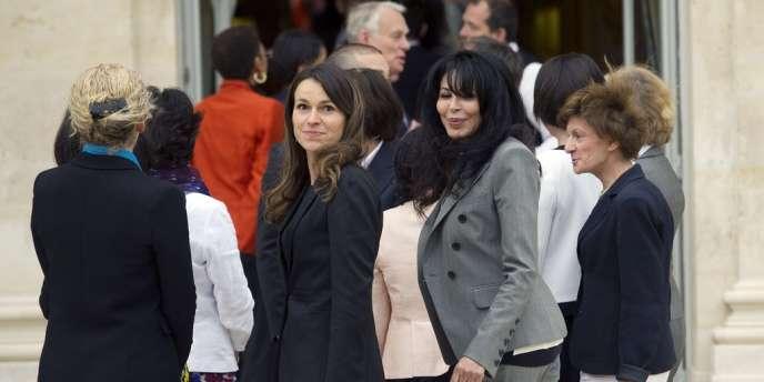 Aurélie Filippetti, la nouvelle ministre de la culture et de la communication, lors du premier conseil des ministres à l'Elysée, le 17 mai.