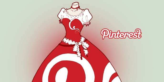 La robe Pinterest in Fashion - toute virtuelle -, créée par le jeune Italien, Victor Faretina.