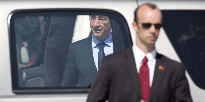 François Hollande lors de son arrivée aux Etats-Unis où il doit participer au sommet du G8.
