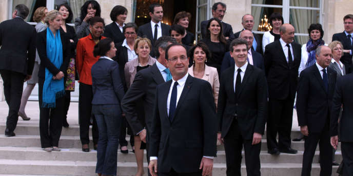 Premier conseil des ministres du gouvernement de François hollande à l'Élysée le jeudi 17 mai 2012.