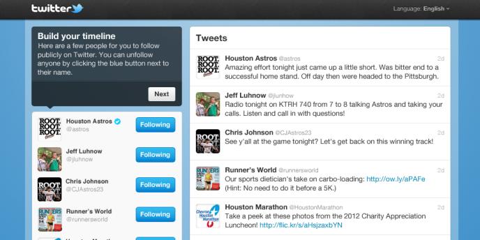 Le nouveau système de suggestion de Twitter.