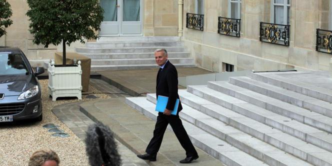 Delphine Batho et jean-Marc Ayrault, premier conseil des ministres le 17 Mai 2012.