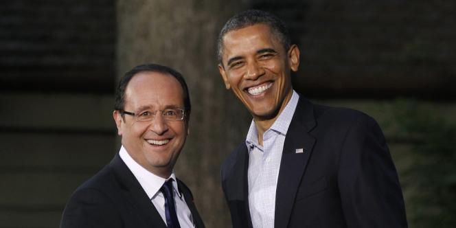 Le président américain Barack Obama a accueilli son homologue français François Hollande à Camp David pour le sommet du G8, le 18 mai.