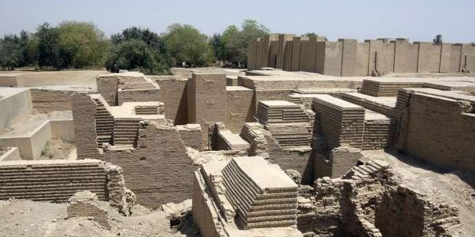 Le site archéologique de la cité de Babylone, au sud de Bagdad, le 25 avril 2012.