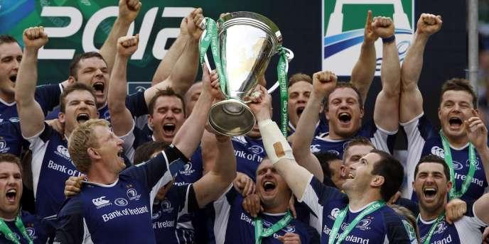 Les joueurs de Leinster célèbrent leur victoire en Coupe d'Europe de rugby, le 19 mai à Twickenham.