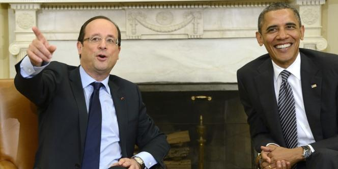 François Hollande et Barack Obama se sont rencontrés pour la première fois à la Maison Blanche le 18 mai 2012.