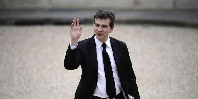 Le ministre du redressement productif, Arnaud Montebourg, à l'Elysée.