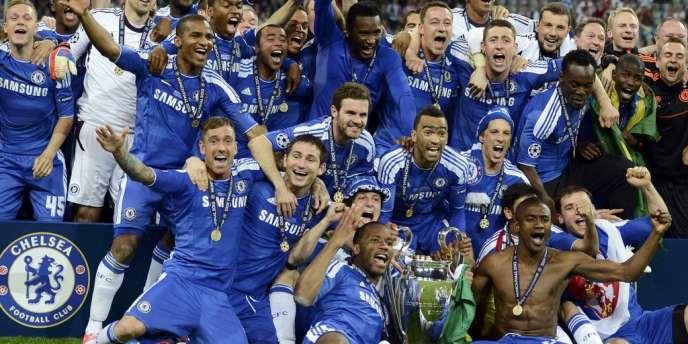 Les joueurs de Chelsea célèbrent leur victoire en finale de la Ligue des champions face au Bayern, le 19 mai à Munich.