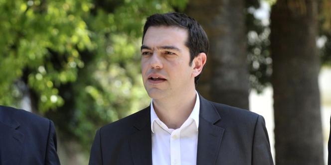 Alexis Tsipras, le leader de Syriza, la coalition de la gauche radicale grecque.
