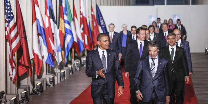 Les chefs d'Etat et de gouvernement réunis à Chicago, dimanche 20 mai, pour le conseil de l'OTAN.