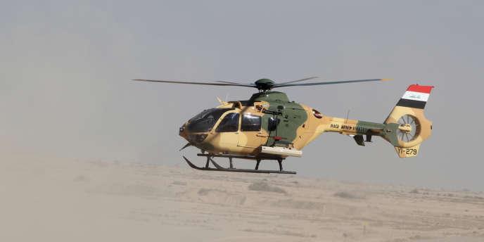 Un hélicoptère EC135 d'Eurocopter.