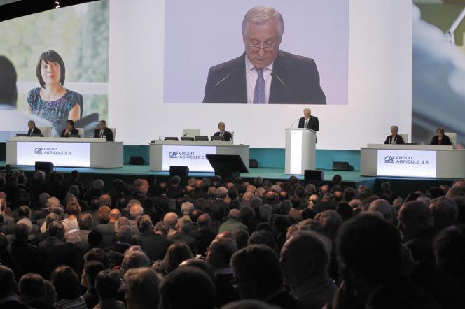 L'assemblée générale des actionnaires du Crédit agricole SA, en mai 2012.