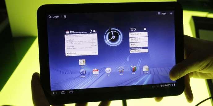 La tablette numérique Motorola Xoom.