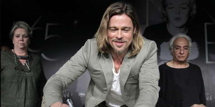 L'acteur Brad Pitt lors d'une conférence de presse au 65e Festival de Cannes, le 22 mai 2012.