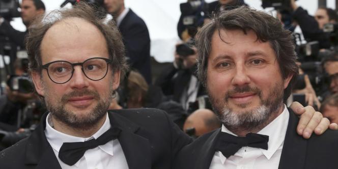 Les frères Denis et Bruno Podalydès au 65e Festival de Cannes, le 21 mai 2012.