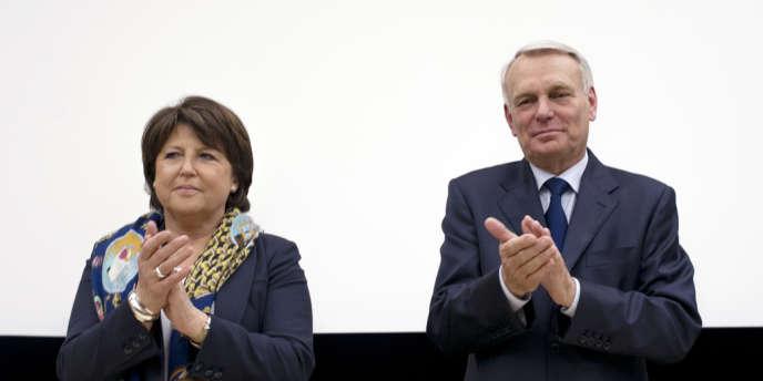 Martine Aubry et Jean-Marc Ayrault, le 22 mai à Paris.