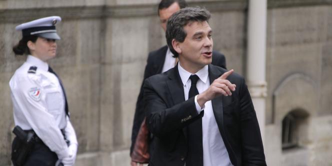 Le ministre du redressement productif, Arnaud Montebourg, jeudi 17 mai, à l'Elysée.