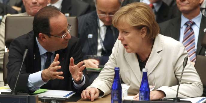 François Hollande et Angela Merkel, le 21 mai 2012.