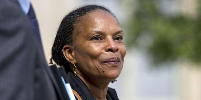 Christiane Taubira à l'Elysée, le 23 mai 2012.