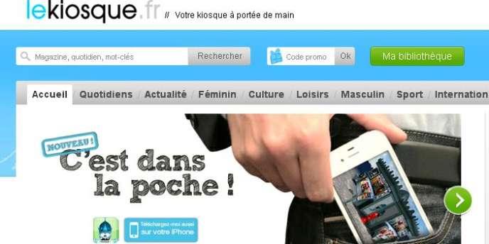Lekiosque.fr a créé son application sur iPad en janvier 2011 sous la forme d'un kiosque à journaux en 3D, qui permet de faire son choix parmi une sélection de 600 titres de presse.