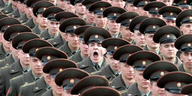 Soldat dans l'armée russe.