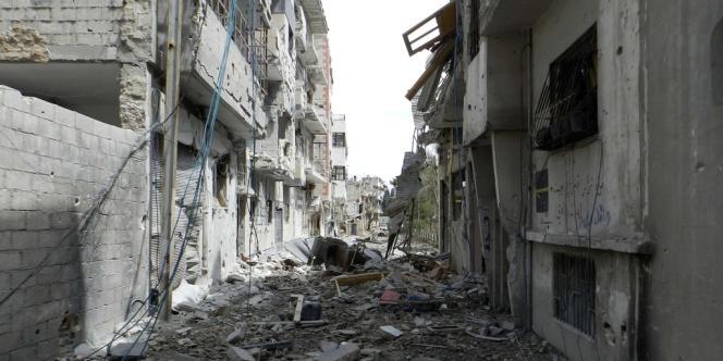 Vue de Homs, le 22 mai 2012.