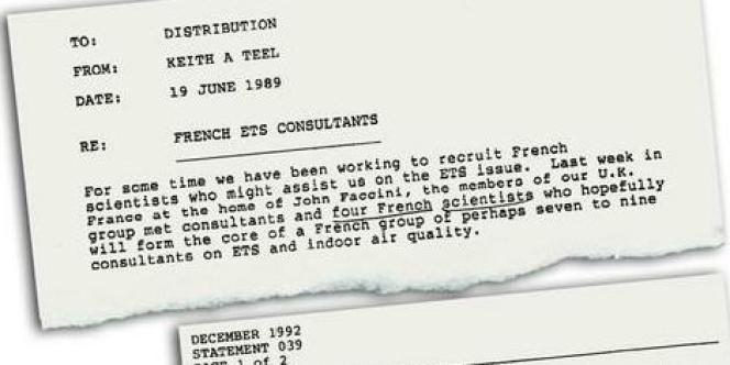 Lettre de juin 1989 adressée à des hauts cadres de Philip Morris.