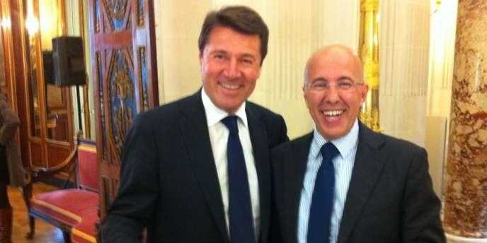 Christian Estrosi, maire UMP de Nice et Eric Ciotti, président du conseil général des Alpes-Maritimes.