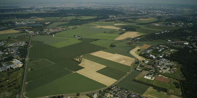 Vue aérienne du plateau de Saclay, une zone qui sera désenclavée par le métro rapide du Grand Paris.