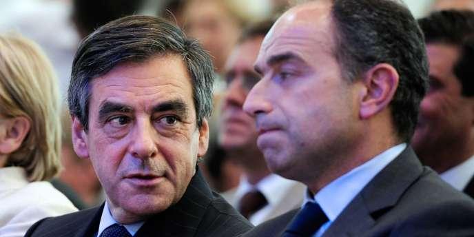 François Fillon et Jean-François Copé, le 3 mai 2012, à Bordeaux.