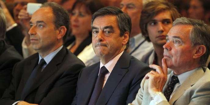 Jean-François Copé, François Fillon et Bernard Accoyer, président de l'Assemblée nationale, le 26 mai à Paris.
