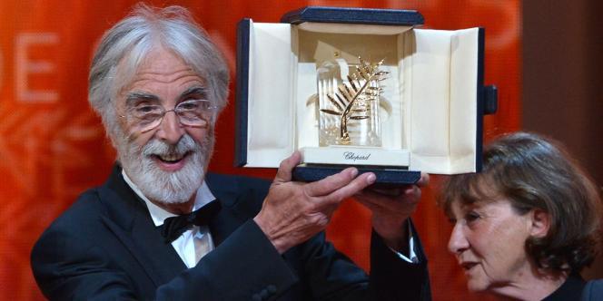 Le réalisateur autrichien Michael Haneke et sa Palme d'or pour