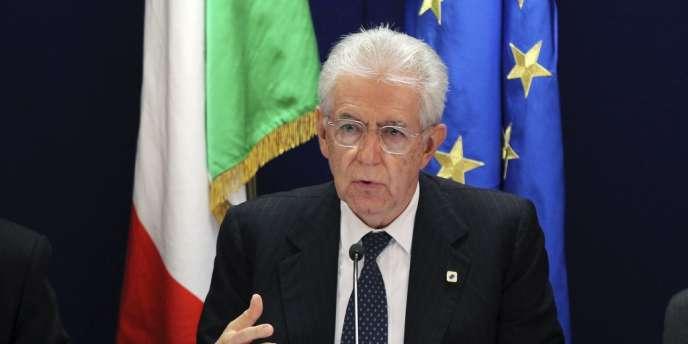 Mario Monti, le 24 mai à Bruxelles.